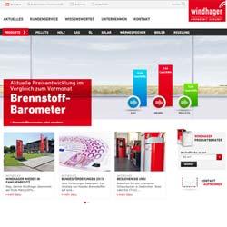 Heizungsspezialist Windhager mit einem neuen Internetauftritt
