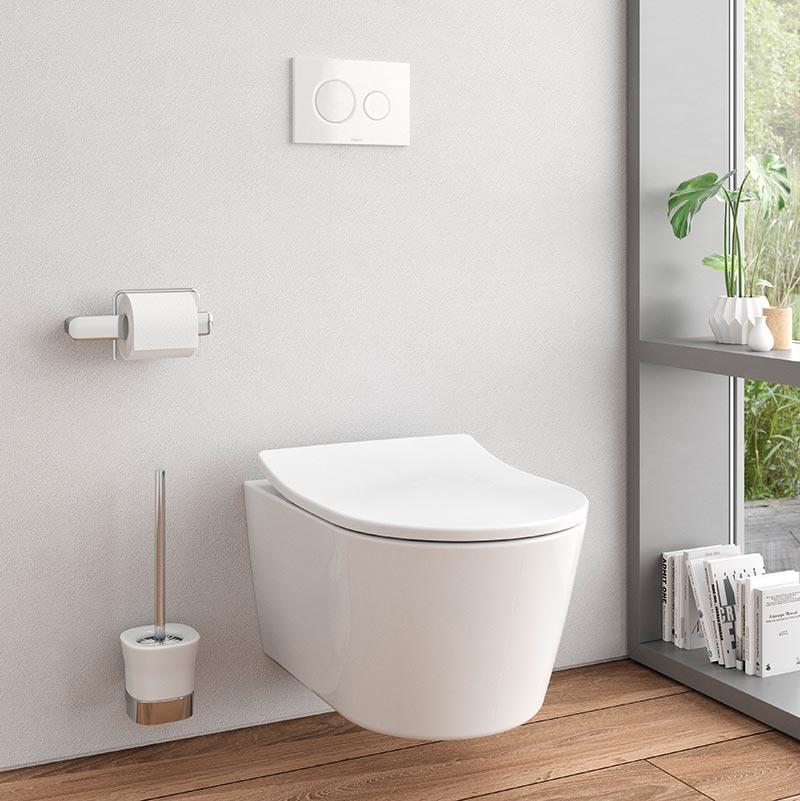 Das WC RP von TOTO ist mit speziellen Hygienetechniken ausgestattet. Die spülrandlose WC Keramik zusammen mit einer kreisenden Spültechnik (TORNADO FLUSH) eignet sich zur Infektionsprävention in Gesundheitseinrichtungen. Foto: TOTO