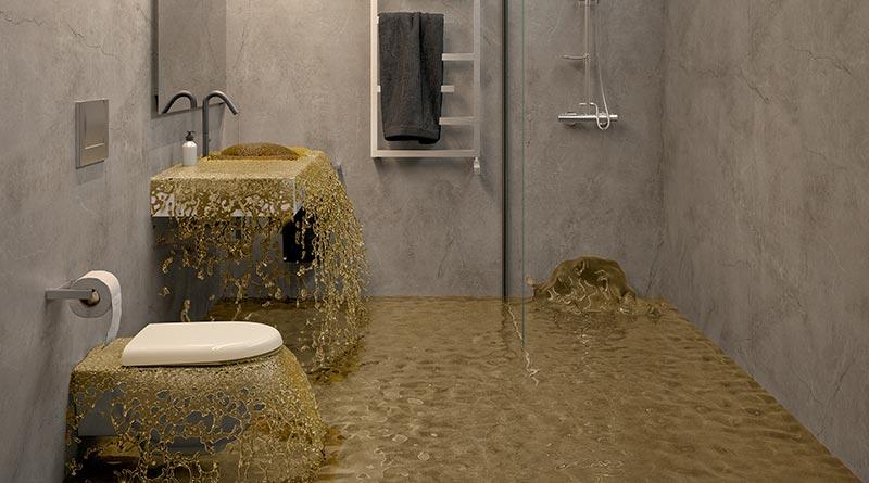 Plötzlicher Starkregen birgt die Gefahr einer Überlastung der Kanalisation. Ist die Kapazität der Kanalschächte erschöpft, drückt das Wasser zurück in ungeschützte Räume, die unterhalb der Rückstauebene liegen. Bildquelle: ACO Haustechnik